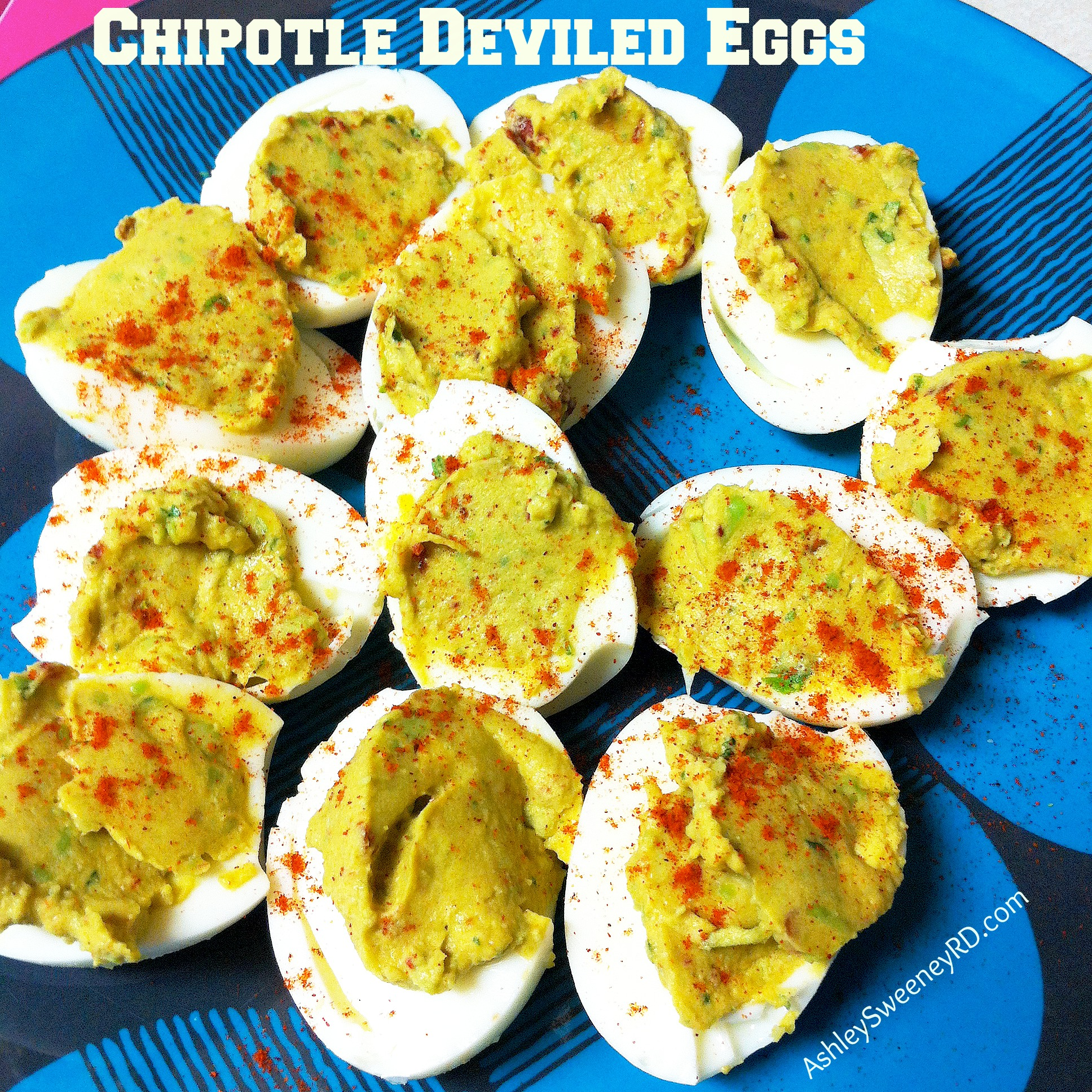 chipotle deviled eggs | Ashley Sweeney RD