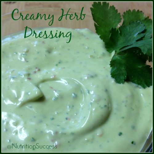 Creamy Herb Dressing | Ashley Sweeney RD